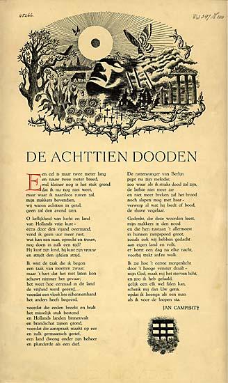 Het Lied Der Achttien Doden Jan Campert 4umi Word
