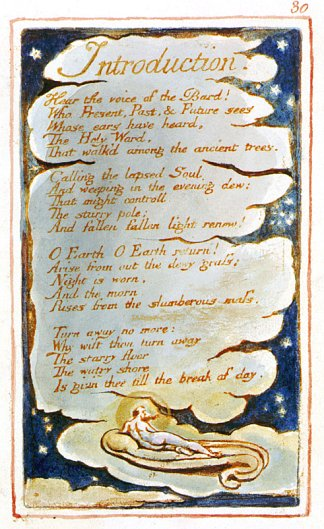 William Blake songs of experience introduction