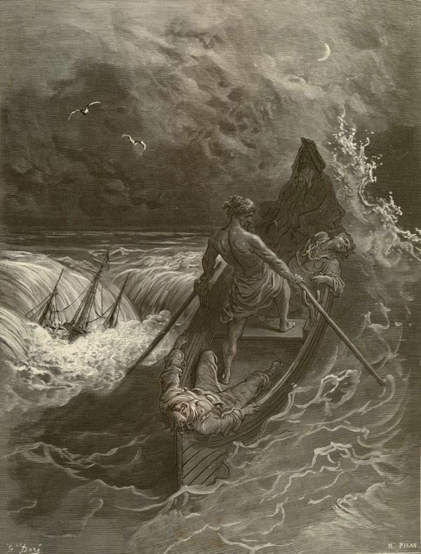 part vi < rime of the ancient mariner < samuel taylor coleridge  the pilot and the pilot s boy i heard them coming fast