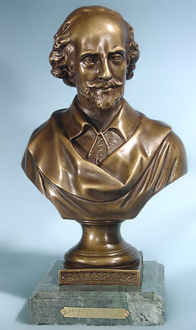 Bust of Shakespeare by Emile Guillemin