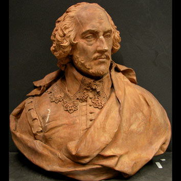 Bust of Shakespeare by L.F. Roubiliac