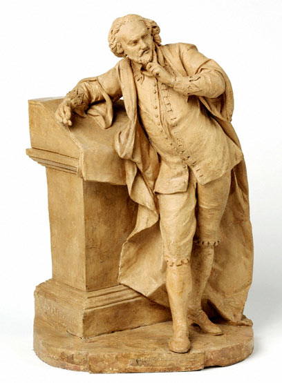 Statue of Shakespeare by L.F. Roubiliac