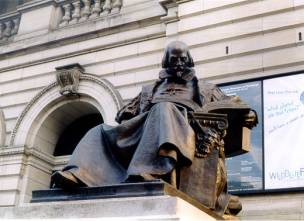 Statue of Shakespeare at The Carnegie Music Hall