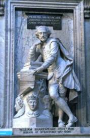 Statue of Shakespeare at Westminster Abbey