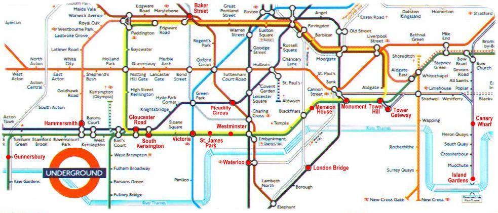 Gloucester Road London Map  London Map